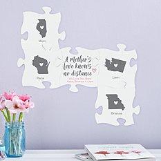 A Mother's Love Knows No Distance Mini Puzzle Piece Set
