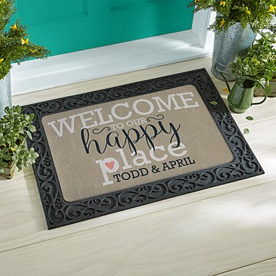 Welcome to Our Happy Place Doormat