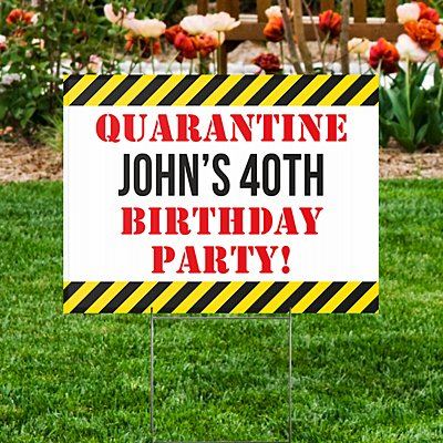 Drive By Birthday 2-Sided Yard Sign with Stake
