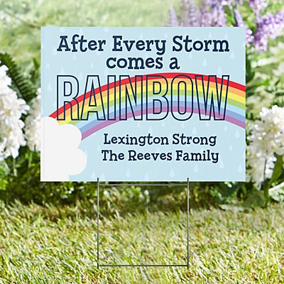 Rainbow 2-Sided Yard Sign with Stake