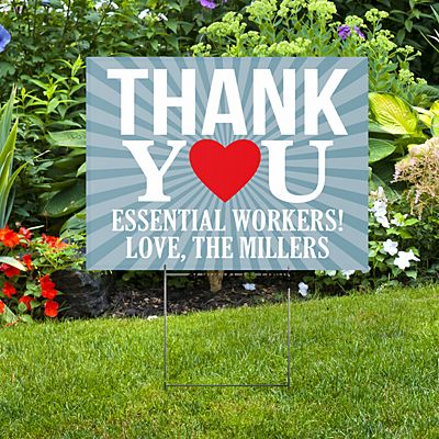 Thank You 2-Sided Yard Sign with Stake