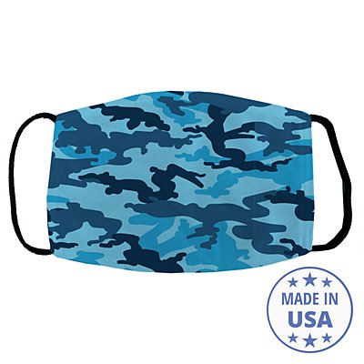 Allover Print Face Mask - Blue Camo