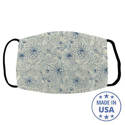 Allover Print Facemask - Vintage Chrysanthemum
