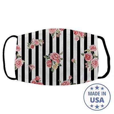 Allover Print Facemask - Floral Stripes