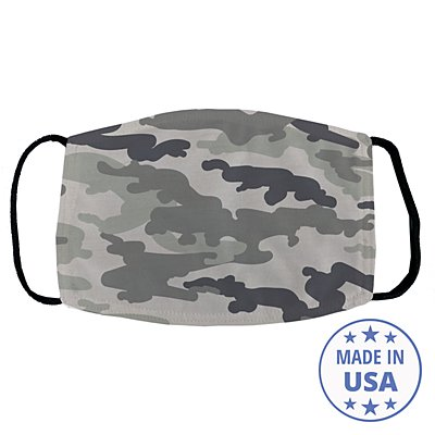 Allover Print Face Mask - Gray Camo