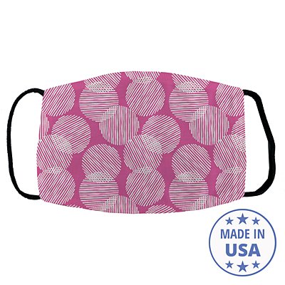 Allover Print Face Mask - Lines and Dots
