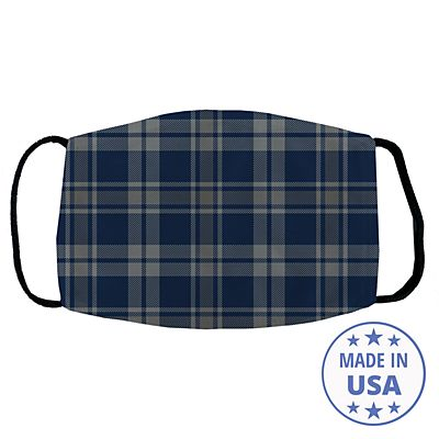 Allover Print Facemask - Navy Plaid