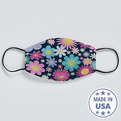 Allover Print Face Mask - Pretty Petals