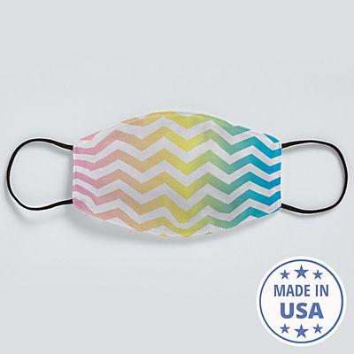 Allover Print Face Mask - Rainbow Chevron