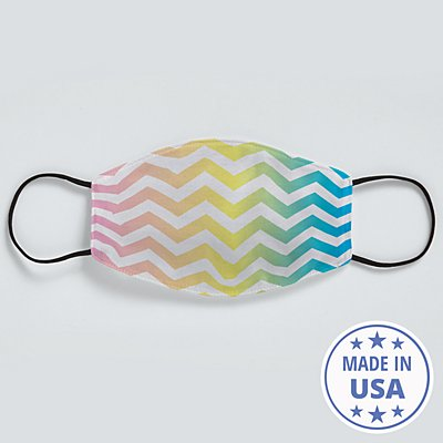 Allover Print Face Mask - Rainbow Chevron