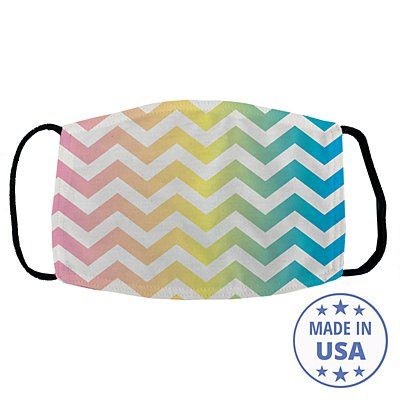 Allover Print Facemask - Rainbow Chevron