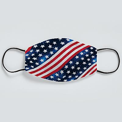 Allover Print Face Mask - Stars and Stripes