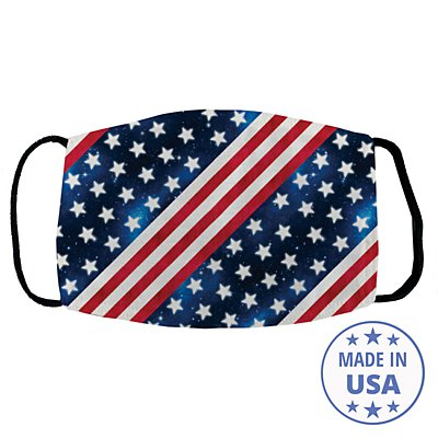 Allover Print Facemask - Stars and Stripes
