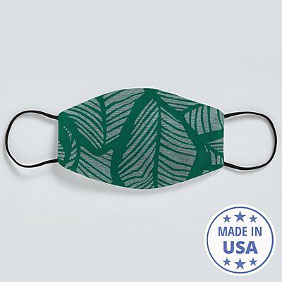 Allover Print Face Mask - Tropical Leaf