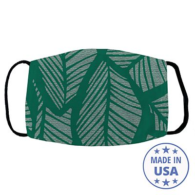 Allover Print Face Mask - Tropical Leaf