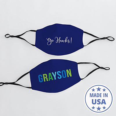 Create Your Own Adult Face Mask - Navy
