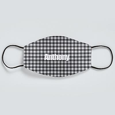 Sophisticated Print Adult Face Mask - Gingham