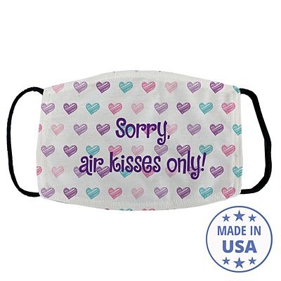 Sophisticated Print Face Mask - Heart