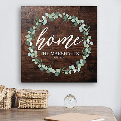 Leafy Home Canvas