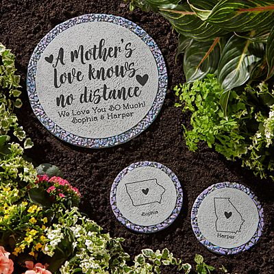 A Mother's Love Knows No Distance Garden Stepping Stone