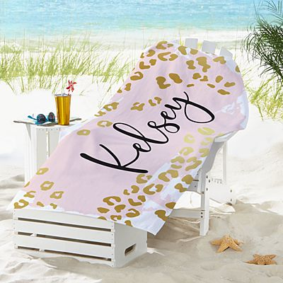 Metallic Leopard Beach Towel