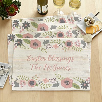 Rustic Easter Floral Placemats