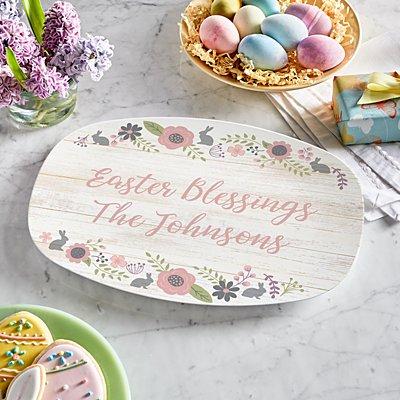 Rustic Easter Floral Platter