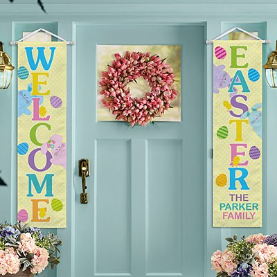 Welcome Easter Door Banner