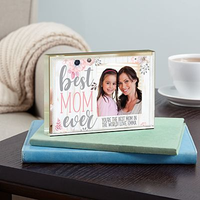 Best Mom Ever Photo Glass Block