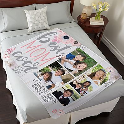 Best Mom Ever Photo Plush Blanket