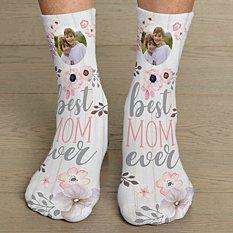 Best Mom Ever Photo Socks