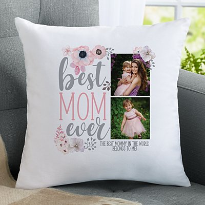 Best Mom Ever Photo Throw Pillow