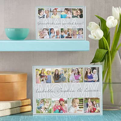 Cherished Memories Photo Glass Block