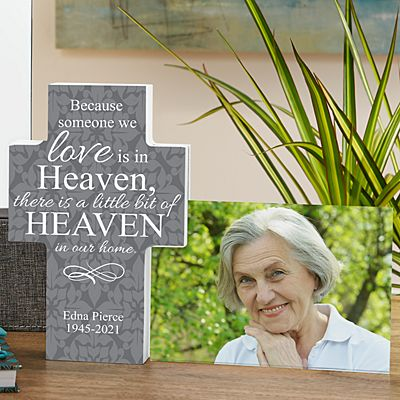 For Loved Ones In Heaven Cross Frame