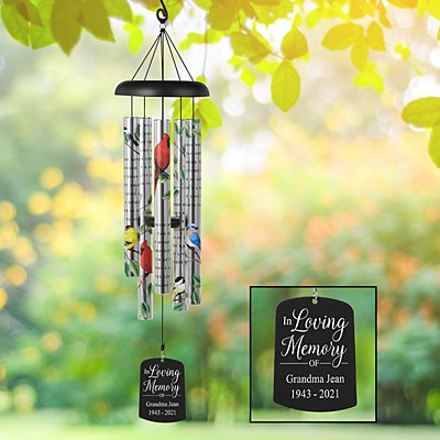 For Those We Love Memorial Sonnet Wind Chime