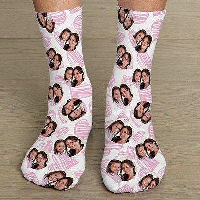 Heart Photo Socks
