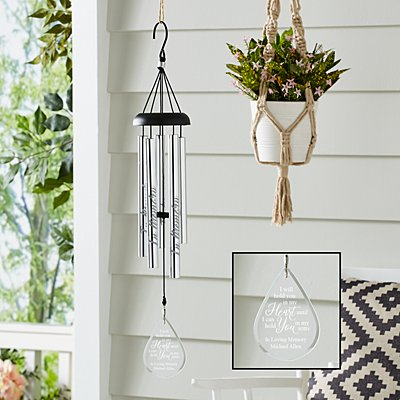Hold You In My Heart Glass Wind Chime