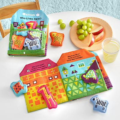 Melissa & Doug® Who Lives Here Cloth Book