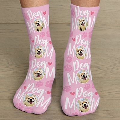 Pet Mom Photo Socks