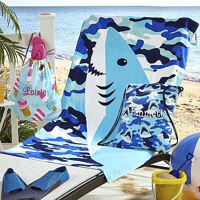 Summer Prints Towel Backpack