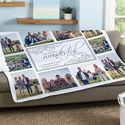 Wonderful Memories Photo Plush Blanket
