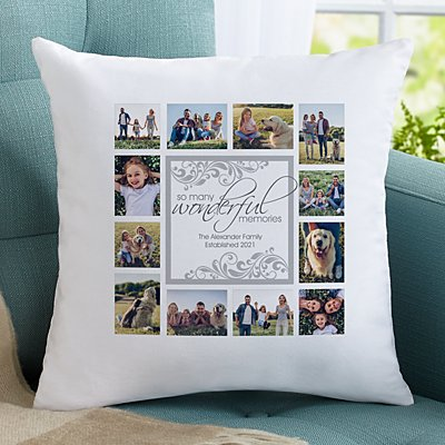 Wonderful Memories Photo Throw Pillow