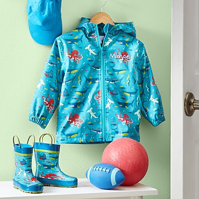 Stephen Joseph® Puddle Jumper Shark Raincoat & Boots