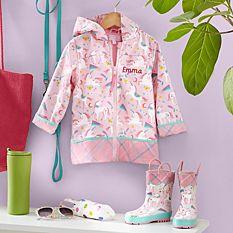 Stephen Joseph® Puddle Jumper Unicorn Raincoat & Boots