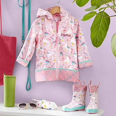 Stephen Joseph® Puddle Jumper Unicorn Raincoat & Boots