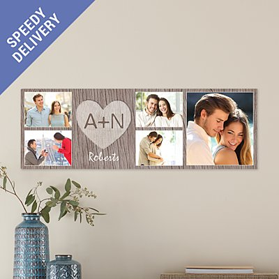 Carved In Love Photo Canvas