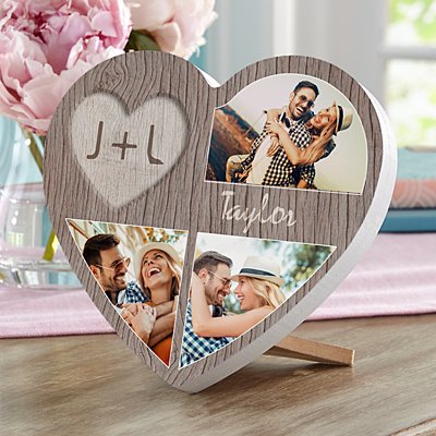 Carved In Love Photo Mini Wood Heart