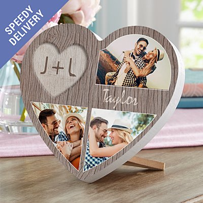 Carved In Love Photo Mini Wood Heart