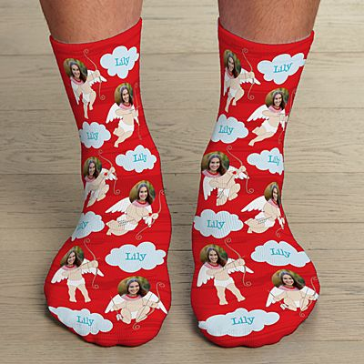 Cupid Photo Socks