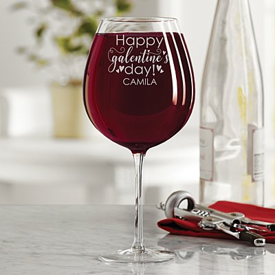 Happy Galentine's Day! XL Wine Glass
